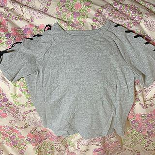 ティアンエクート(TIENS ecoute)のショルダー  レースアップ  Tシャツ (未着用)(Tシャツ(半袖/袖なし))