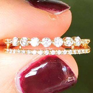 スタージュエリー(STAR JEWELRY)の美品❗️スタージュエリー 0.22ct k18ダイヤリング(リング(指輪))