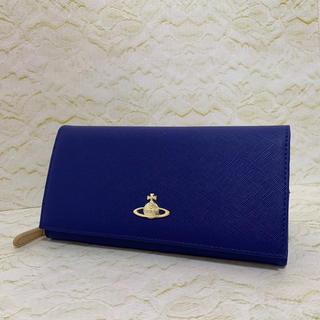 ヴィヴィアンウエストウッド(Vivienne Westwood)の23 ヴィヴィアンウエストウッド 折り長財布 ブルー (財布)