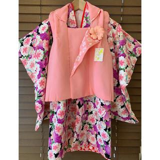 【新品・未使用】七五三 3歳 着物 被布 セット 正絹(和服/着物)