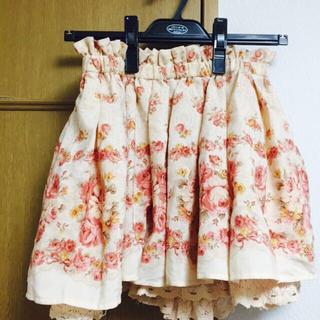 リズリサ(LIZ LISA)のリズリサ花柄キュロットスカート(ミニスカート)