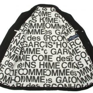 コムデギャルソンオムプリュス(COMME des GARCONS HOMME PLUS)のコムデギャルソンオム ウールギャバJK 裏地ロゴ 2005(テーラードジャケット)