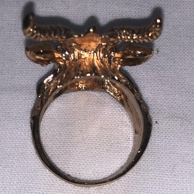 ヤギ リング ゴールド メンズのアクセサリー(リング(指輪))の商品写真