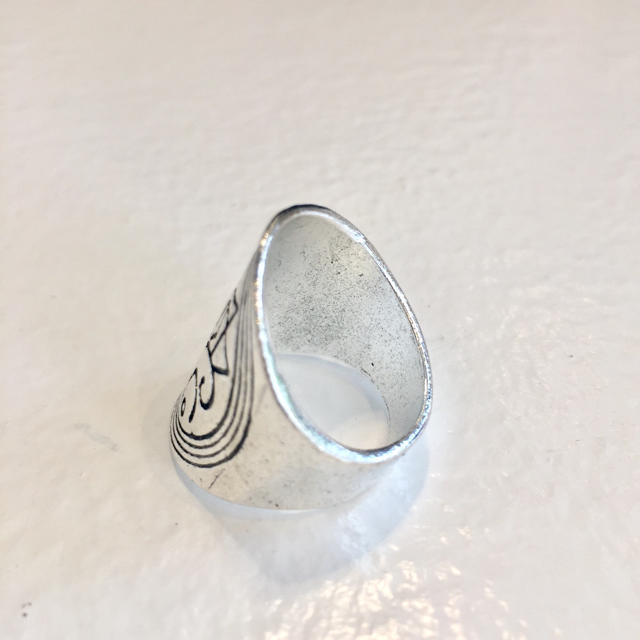 Ron Herman(ロンハーマン)の新品 インディアンジュエリー シルバーリング ボヘミアンリング16号 no.4 メンズのアクセサリー(リング(指輪))の商品写真