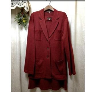 クリツィア(KRIZIA)のEVEX by KRIZIA*クリッツィア ワンピーススーツ サイズ40 赤(スーツ)