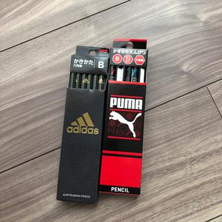 アディダス(adidas)のかきかたえんぴつ B 六角軸 新品未使用 2箱 PUMA adidas(鉛筆)