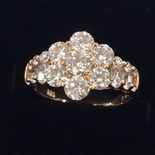 ⭐︎鑑別書付き!K18 天然ダイヤモンド リング!ピンクゴールド!(リング(指輪))