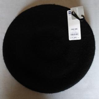 ジーユー(GU)のGUベレー帽(ハット)黒 新品未使用 (ハンチング/ベレー帽)