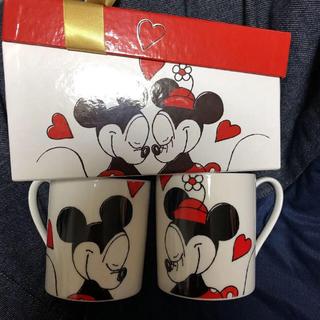 ディズニー(Disney)のディズニー ペアマグカップ オルゴール付き(グラス/カップ)