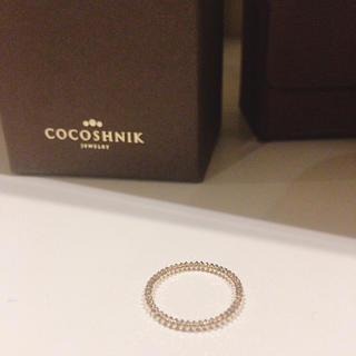 ココシュニック(COCOSHNIK)のCOCOSHNIK カットビーズ連続リング 8号(リング(指輪))