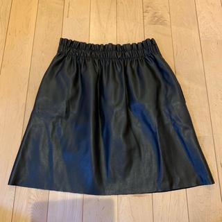 ザラ(ZARA)の美品♡ザラ レザー風スカート ザラ レザースカート(ミニスカート)
