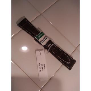 ミモザ/マットクロコダイル竹斑 時計ベルトWRM-BW20 ブラウン(レザーベルト)