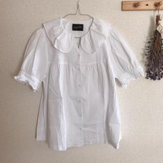 サンタモニカ(Santa Monica)のフリルブラウス 𓂅(シャツ/ブラウス(半袖/袖なし))