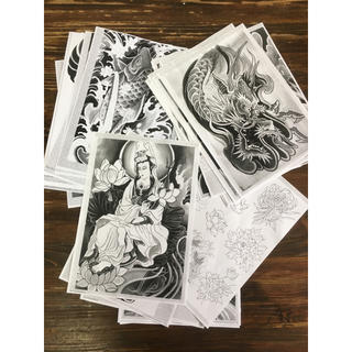 和彫り 下絵50枚set 刺青 タトゥー Tattoo(その他)