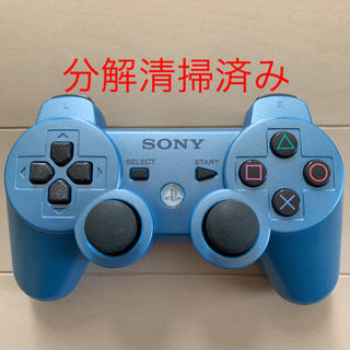 プレイステーション3(PlayStation3)の分解清掃済 SONY PS3 純正 コントローラー DUALSHOCK3 水色(家庭用ゲーム本体)