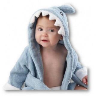 バスローブ 子供用 激カワ 癒される 可愛い 出産祝い 贈り物 にも(ブルー)(バスローブ)