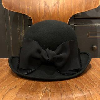 CA4LA - CA4LA カシラ 黒 ブラック ウール リボン 丸型 ハット 帽子