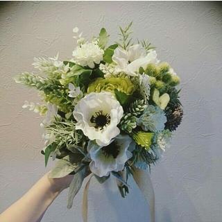 【新品】造花ウェディングブーケ、クラッチブーケ、結婚式