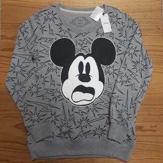 ディズニー(Disney)の新品タグ付き グレー ミッキーマウス スウェットトレーナー(トレーナー/スウェット)