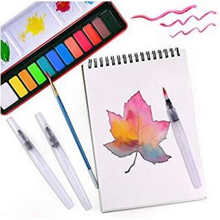 水彩画セット 固形水彩 12色(絵の具/ポスターカラー )