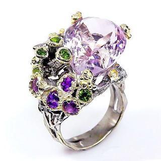 新品★鑑別書付★1点物 深海の宝石 最上級30ct ピンク天然アメジスト指輪(リング(指輪))