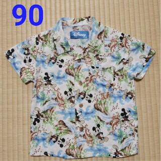 ディズニー(Disney)のディズニー ミッキー アロハ 90 男の子 シャツ(Tシャツ/カットソー)