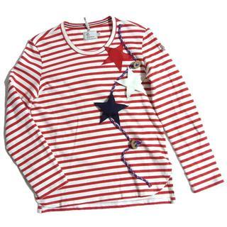 モンクレール(MONCLER)のモンクレール グルノーブル スター装飾 ボーダー ロンT カットソー Tシャツ(Tシャツ(長袖/七分))