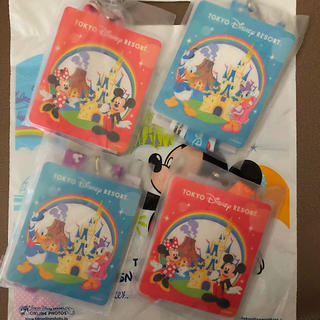 ディズニー(Disney)の新品未使用*JALパック ディズニー パスポートホルダー 4点セット(キャラクターグッズ)