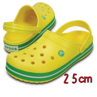クロックス(crocs)の新品 25㎝ クロックス クロックバンド レモン(サンダル)