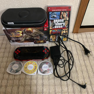 プレイステーションポータブル(PlayStation Portable)のPSP3000 モンハン3rd セット(携帯用ゲーム本体)