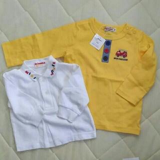ミキハウス(mikihouse)のミキハウス  ロンT  黄色 70  ポロシャツ  2枚セット  中古(シャツ/カットソー)