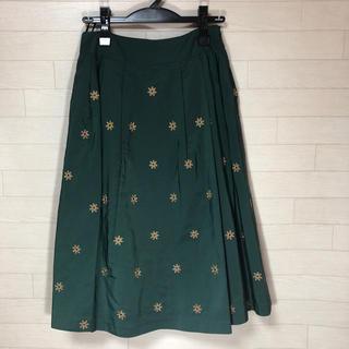 ギャラリービスコンティ(GALLERY VISCONTI)のフラワー刺繍スカート サイズ2 ギャラリービスコンティ 新品(ひざ丈スカート)