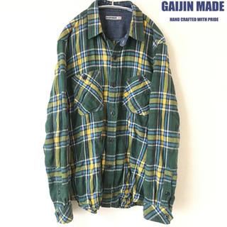 ガイジンメイド(GAIJIN MADE)の【GAIJINMADE】チェックシャツ(M))ガイジンメイド 緑(シャツ)