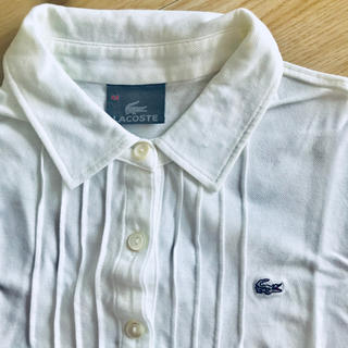 LACOSTE - 1回着用のみ☆LACOSTEラコステ☆長袖☆ポロシャツ☆白