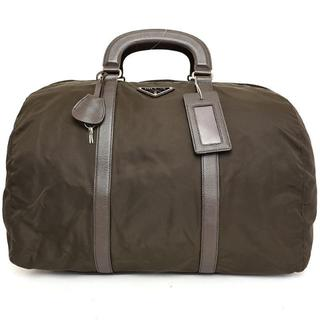 プラダ(PRADA)の美品★プラダ♡ボストンバッグ・スポーツ旅行鞄♡ブラウンナイロン大きいサイズ(ボストンバッグ)