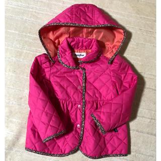 familiar - 美品♡ファミリア リバティー柄 キルティングジャケット 100