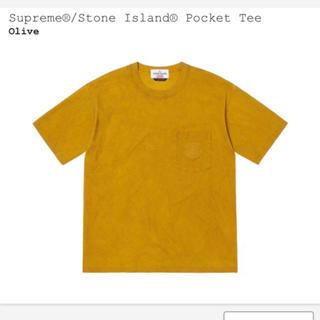 シュプリーム(Supreme)の【最安値】supreme × stone island pocket tee(Tシャツ/カットソー(半袖/袖なし))