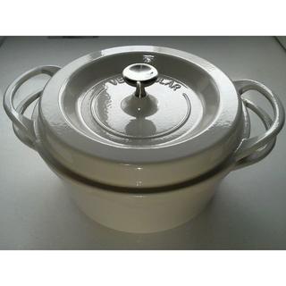 バーミキュラ(Vermicular)のバーミキュラ  22cm 無水 ホーロー鍋 専用レシピブック付(鍋/フライパン)