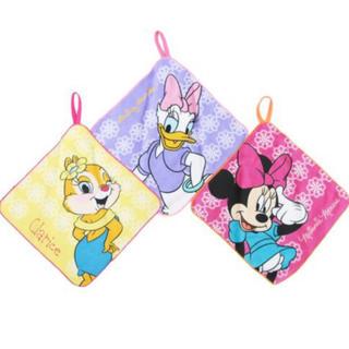 ディズニー(Disney)の《入園・入学》ガールズ ループ付きハンドタオル3枚セット/レースガールズ(ハンカチ)