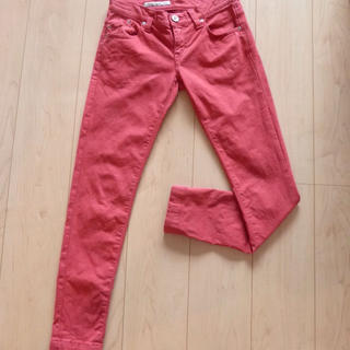 ダブルスタンダードクロージング(DOUBLE STANDARD CLOTHING)のダブスタ カラースキニーパンツ レッド系(カジュアルパンツ)