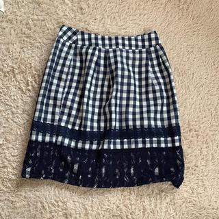 マーキュリーデュオ(MERCURYDUO)のギンガムチェック スカート(ミニスカート)