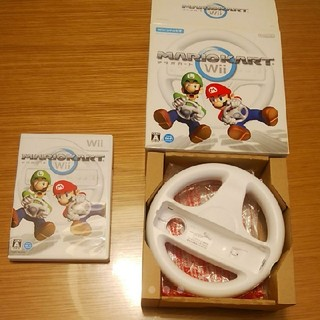 ウィー(Wii)のマリオカート☆Wii☆中古☆ハンドル☆Wiiu☆マリオ☆ルイージ(家庭用ゲームソフト)