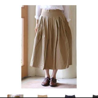 カトー(KATO`)のグランマママドーター チノプリーツ ロングスカート(ロングスカート)