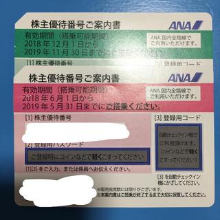 エーエヌエー(ゼンニッポンクウユ)(ANA(全日本空輸))の値下げします![12日お昼まで]ANA 株主優待券(航空券)