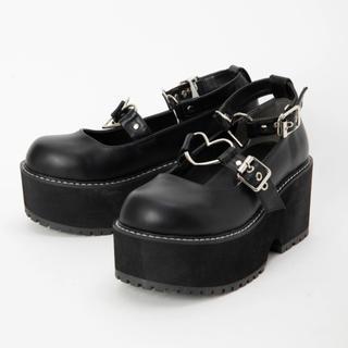 アンクルージュ(Ank Rouge)のアンクルージュ  ハートバックル厚底シューズ  新品(ローファー/革靴)