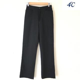 ヨンドシー(4℃)の【4°C】パンツ(M)ブラック ニュー入学式 卒業式 結婚式 通勤(スーツ)