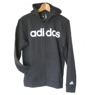 adidas - 新品O★アディダス黒ロゴ裏フリースフルジップパーカー定価6469円