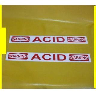 英語標識「ACID(酸)」(2枚セット)屋外可 (店舗用品)