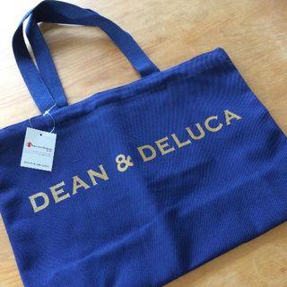 DEAN&DELUCA ディーン&デルーカ トートバッグ  ネイビーM