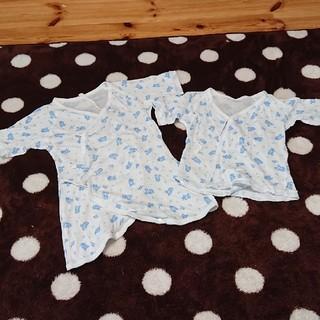 ディズニー(Disney)の新生児 肌着 ミッキー 2枚 セット(肌着/下着)